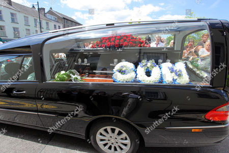The hearse of Stuart Cable
