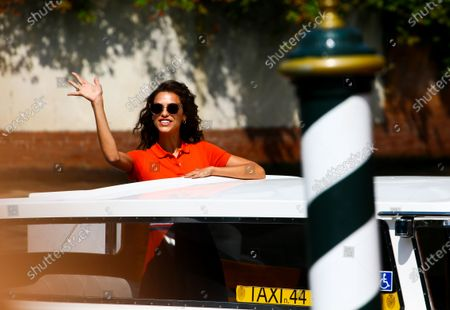 Marianna Di Martino is seen during the 75th Venice Film Festival on September 2, 2018 in Venice, Italy.