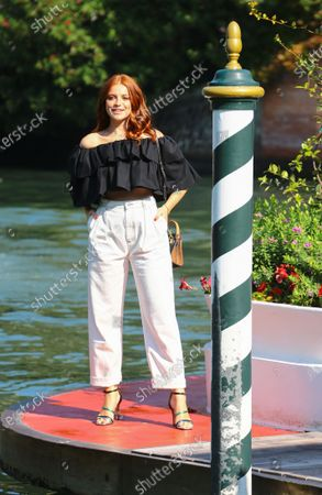 Ludovica Bizzaglia is seen arriving at the Excelsior during the 77th Venice Film Festival on September 05, 2020 in Venice, Italy.