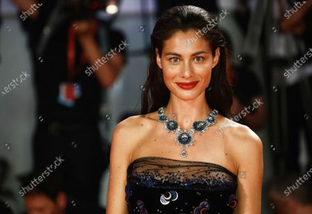 """Marica Pellegrinelli walks the red carpet ahead of the """"Seberg"""" screening during the 76th Venice Film Festival at Sala Grande on August 30, 2019 in Venice, Italy."""