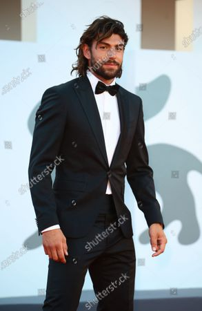 """Stock Picture of Ignazio Moser walks the red carpet ahead of the movie """"Sniegu Juz Nigdy Nie Bedzie"""" (Never Gonna Snow Again) at the 77th Venice Film Festival on September 07, 2020 in Venice, Italy."""