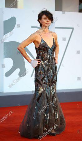 "Stock Image of Malgorzata Szumowska walks the red carpet ahead of the movie ""Sniegu Juz Nigdy Nie Bedzie"" (Never Gonna Snow Again) at the 77th Venice Film Festival on September 07, 2020 in Venice, Italy."