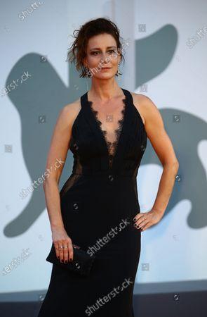 "Maja Ostaszewska walks the red carpet ahead of the movie ""Sniegu Juz Nigdy Nie Bedzie"" (Never Gonna Snow Again) at the 77th Venice Film Festival on September 07, 2020 in Venice, Italy."