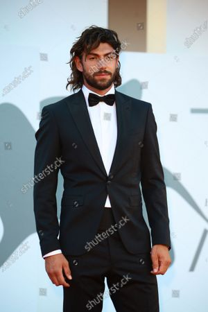 """Ignazio Moser walks the red carpet ahead of the movie """"Sniegu Juz Nigdy Nie Bedzie"""" (Never Gonna Snow Again) at the 77th Venice Film Festival on September 07, 2020 in Venice, Italy."""