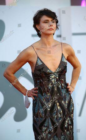 "Malgorzata Szumowska walks the red carpet ahead of the movie ""Sniegu Juz Nigdy Nie Bedzie"" (Never Gonna Snow Again) at the 77th Venice Film Festival on September 07, 2020 in Venice, Italy."