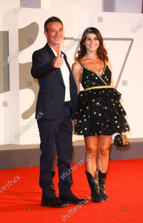 Salvatore Ficarra, Rossella Leone  is seen arriving at the Excelsior during the 77th Venice Film Festival on September 06, 2020 in Venice, Italy.