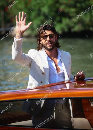 Ignazio Moser is seen arriving at the Excelsior during the 77th Venice Film Festival on September 07, 2020 in Venice, Italy.