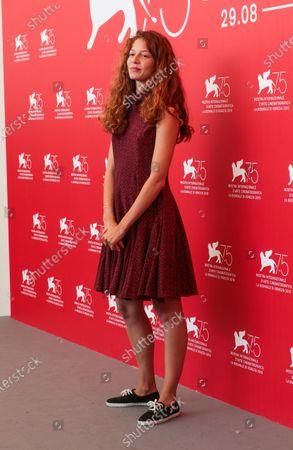 Jenna Thiam attend 'Capri-Revolution' photocall during the 75th Venice Film Festival on September 6, 2018 in Venice, Italy.