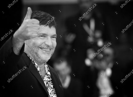 (EDITORS NOTE: Image has been converted to black and white.)Pierre Schoeller  walks the red carpet ahead of the 'One Nation One King (Un Peuple Et Son Roi)' screening during the 75th Venice Film Festival on September 7, 2018 in Venice, Italy.