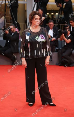 Noemie Lvovsky walks the red carpet ahead of the 'One Nation One King (Un Peuple Et Son Roi)' screening during the 75th Venice Film Festival on September 7, 2018 in Venice, Italy.