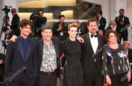 (R-L) Noemie Lvovsky, Laurent Lafitte, Celine Sallette, Pierre Schoeller and Louis Garrel  walks the red carpet ahead of the 'One Nation One King (Un Peuple Et Son Roi)' screening during the 75th Venice Film Festival on September 7, 2018 in Venice, Italy.