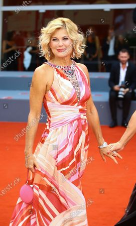 Patrizia Pellegrino walks the red carpet ahead of the 'One Nation One King (Un Peuple Et Son Roi)' screening during the 75th Venice Film Festival on September 7, 2018 in Venice, Italy.