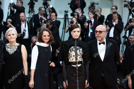Stock Image of Mary Harron, Jury President Lucrecia Martel, Stacy Martin, Paolo Virz attends the Opening Ceremony and the 'La Vrit' (The Truth) screening during the 76th Venice Film Festival at Sala Grande on August 28, 2019 in Venice, Italy.
