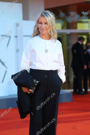 Nicole Garcia walks the red carpet ahead of the movie 'Amants' at the 77th Venice Film Festival at on September 03, 2020 in Venice, Italy.
