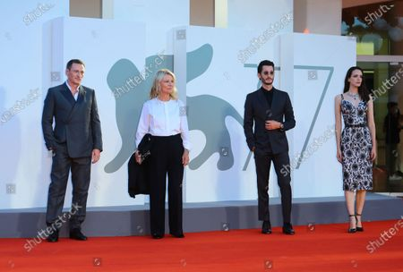 Benoit Magimel, Director Nicole Garcia, Pierre Niney, Stacy Martin walks the red carpet ahead of the movie 'Amants' at the 77th Venice Film Festival at on September 03, 2020 in Venice, Italy.