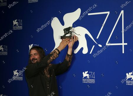 Venice, Italy. 09 September, 2017.  Warwick Thornton poses with the Special Jury Prize Award for 'Sweet Country' at the Award Winners photocall during the 74th Venice Film Festival