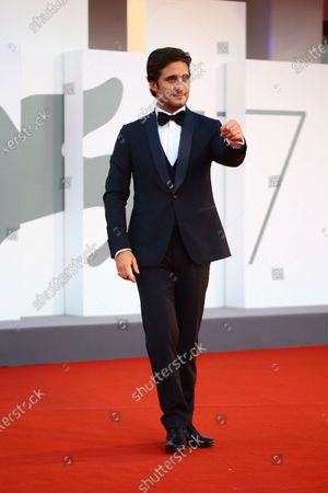 Diego Boneta walks the red carpet ahead of closing ceremony at the 77th Venice Film Festival on September 12, 2020 in Venice, Italy.