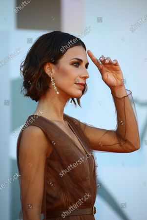 Michelle Carpente  walks the red carpet ahead of closing ceremony at the 77th Venice Film Festival on September 12, 2020 in Venice, Italy.