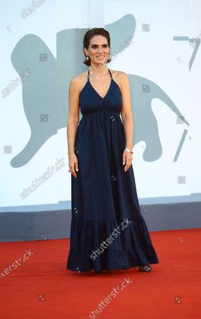 Maya Sansa walks the red carpet ahead of closing ceremony at the 77th Venice Film Festival on September 12, 2020 in Venice, Italy.