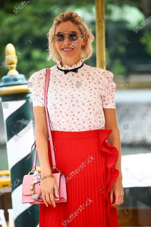 Sarah Felberbaum is seen arriving at the 76th Venice Film Festival on August 31, 2019 in Venice, Italy.