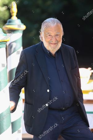 Pupi Avati is seen arriving at the Excelsior during the 77th Venice Film Festival on September 09, 2020 in Venice, Italy.