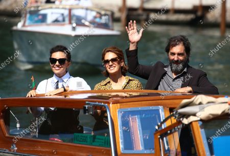 Stock Picture of (L-R) Serena Rossi, Maya Sansa and Director Stefano Mordini are seen arriving at the Excelsior during the 77th Venice Film Festival on September 12, 2020 in Venice, Italy.