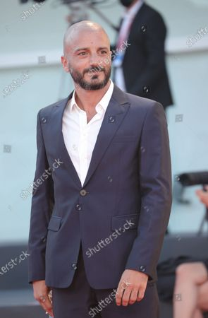 Nicolas Vaporidis walks the red carpet ahead of the movie ''Le Sorelle Macaluso'' at the 77th Venice Film Festival on September 09, 2020 in Venice, Italy.
