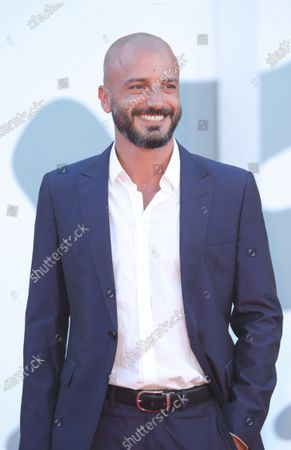 Stock Photo of Nicolas Vaporidis walks the red carpet ahead of the movie ''Le Sorelle Macaluso'' at the 77th Venice Film Festival on September 09, 2020 in Venice, Italy.