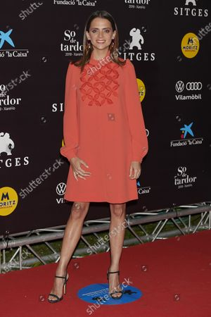 Macarena Gomez attends the '30 Monedas' Sitges film festival Red Carpet at Gran Melia Hotel in Sitges, Spain, on October 11, 2020.