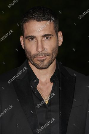 Miguel angel Silvestre attends the '30 Monedas' Sitges film festival Red Carpet at Gran Melia Hotel in Sitges, Spain, on October 11, 2020.