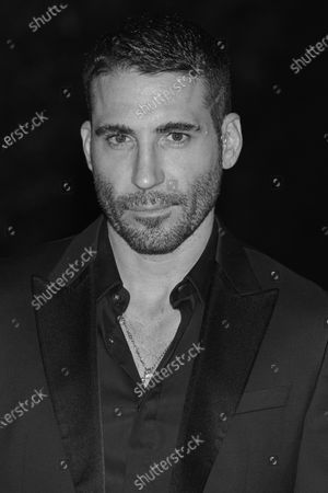 Stock Picture of (EDITOR'S NOTE: Image was converted to black and white) Miguel angel Silvestre attends the '30 Monedas' Sitges film festival Red Carpet at Gran Melia Hotel in Sitges, Spain, on October 11, 2020.