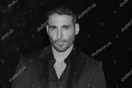 (EDITOR'S NOTE: Image was converted to black and white) Miguel angel Silvestre attends the '30 Monedas' Sitges film festival Red Carpet at Gran Melia Hotel in Sitges, Spain, on October 11, 2020.