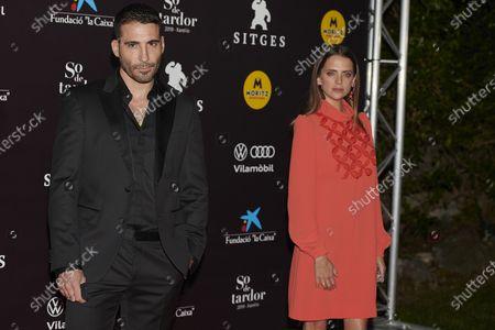 Miguel angel Silvestre, Macarena Gomez attends the '30 Monedas' Sitges film festival Red Carpet at Gran Melia Hotel in Sitges, Spain, on October 11, 2020.