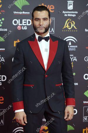 Antonio Velazquez attends the 34th 'Goya' Cinema Awards 2020 Red Carpet photocall at Jose Maria Martin Carpena Sports Palace in Malaga, Spain on Jan 25, 2020