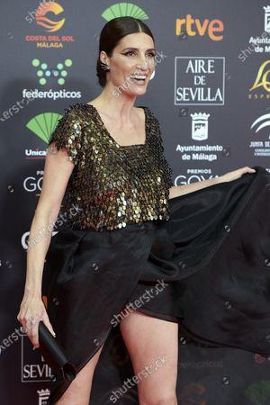 Elia Galera attends the 34th 'Goya' Cinema Awards 2020 Red Carpet photocall at Jose Maria Martin Carpena Sports Palace in Malaga, Spain on Jan 25, 2020