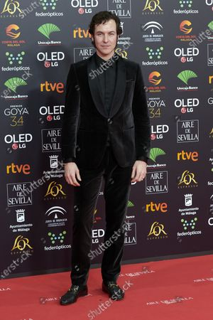 Stock Picture of Jorge Suquet attends the 34th 'Goya' Cinema Awards 2020 Red Carpet photocall at Jose Maria Martin Carpena Sports Palace in Malaga, Spain on Jan 25, 2020