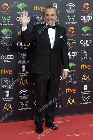Jose Coronado attends the 34th 'Goya' Cinema Awards 2020 Red Carpet photocall at Jose Maria Martin Carpena Sports Palace in Malaga, Spain on Jan 25, 2020