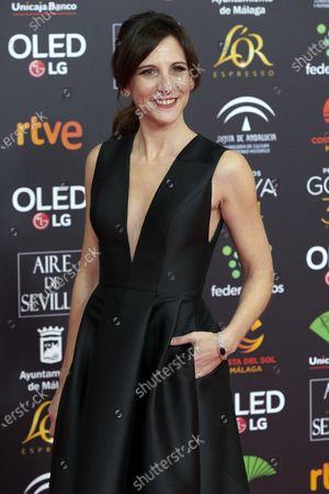 Malena Alterio attends the 34th 'Goya' Cinema Awards 2020 Red Carpet photocall at Jose Maria Martin Carpena Sports Palace in Malaga, Spain on Jan 25, 2020
