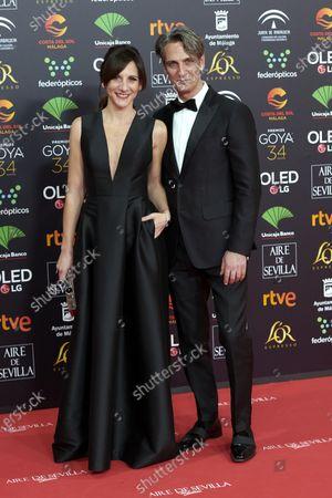 Malena Alterio, Ernesto Alterio attends the 34th 'Goya' Cinema Awards 2020 Red Carpet photocall at Jose Maria Martin Carpena Sports Palace in Malaga, Spain on Jan 25, 2020