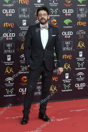 Stock Photo of Manolo Solo attends the 34th 'Goya' Cinema Awards 2020 Red Carpet photocall at Jose Maria Martin Carpena Sports Palace in Malaga, Spain on Jan 25, 2020