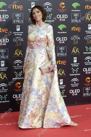 Maria Barranco attends the 34th 'Goya' Cinema Awards 2020 Red Carpet photocall at Jose Maria Martin Carpena Sports Palace in Malaga, Spain on Jan 25, 2020
