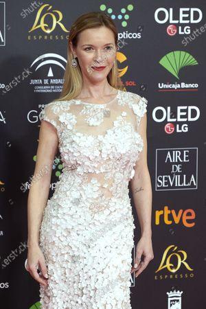 Maria Esteve attends the 34th 'Goya' Cinema Awards 2020 Red Carpet photocall at Jose Maria Martin Carpena Sports Palace in Malaga, Spain on Jan 25, 2020