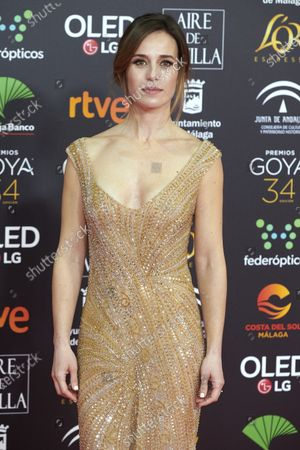 Marta Etura attends the 34th 'Goya' Cinema Awards 2020 Red Carpet photocall at Jose Maria Martin Carpena Sports Palace in Malaga, Spain on Jan 25, 2020