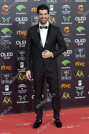 Miguel Angel Munoz attends the 34th 'Goya' Cinema Awards 2020 Red Carpet photocall at Jose Maria Martin Carpena Sports Palace in Malaga, Spain on Jan 25, 2020