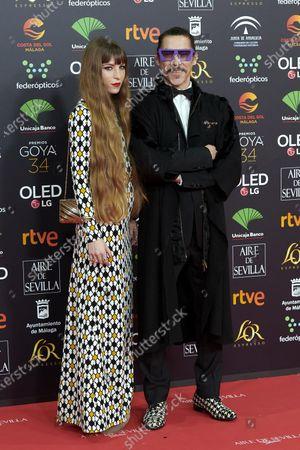 Oscar Jaenada attends the 34th 'Goya' Cinema Awards 2020 Red Carpet photocall at Jose Maria Martin Carpena Sports Palace in Malaga, Spain on Jan 25, 2020