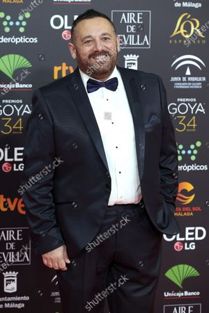 Pepon Nieto attends the 34th 'Goya' Cinema Awards 2020 Red Carpet photocall at Jose Maria Martin Carpena Sports Palace in Malaga, Spain on Jan 25, 2020