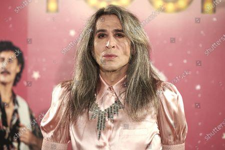 Mario Vaquerizo attends the 'La ultima Tourne' premiere at Calderon Theatre in Madrid, Spain, on October 29, 2020.