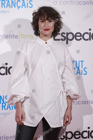 Aida Folch attends the 'Especiales' premiere at 'French Institute' Cinema in Madrid, Spain  on Feb 5, 2020