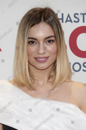 Norma Ruiz attends the 'Hasta que la boda nos separe' premiere at Capitol Cinema in Madrid, Spain  on Feb 10, 2020
