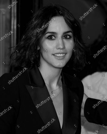 (EDITOR'S NOTE: Image was converted to black and white) Megan Montaner attends the 'Hasta que la boda nos separe' premiere at Capitol Cinema in Madrid, Spain  on Feb 10, 2020